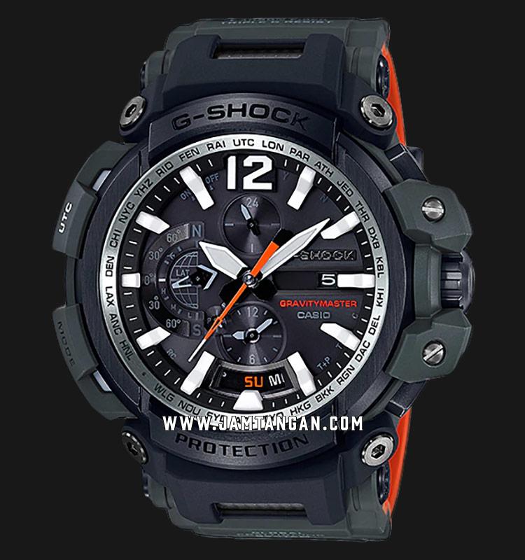 Casio G-Shock Gravitymaster GPW-2000-3ADR Black Dial Black Resin Strap Machtwatch