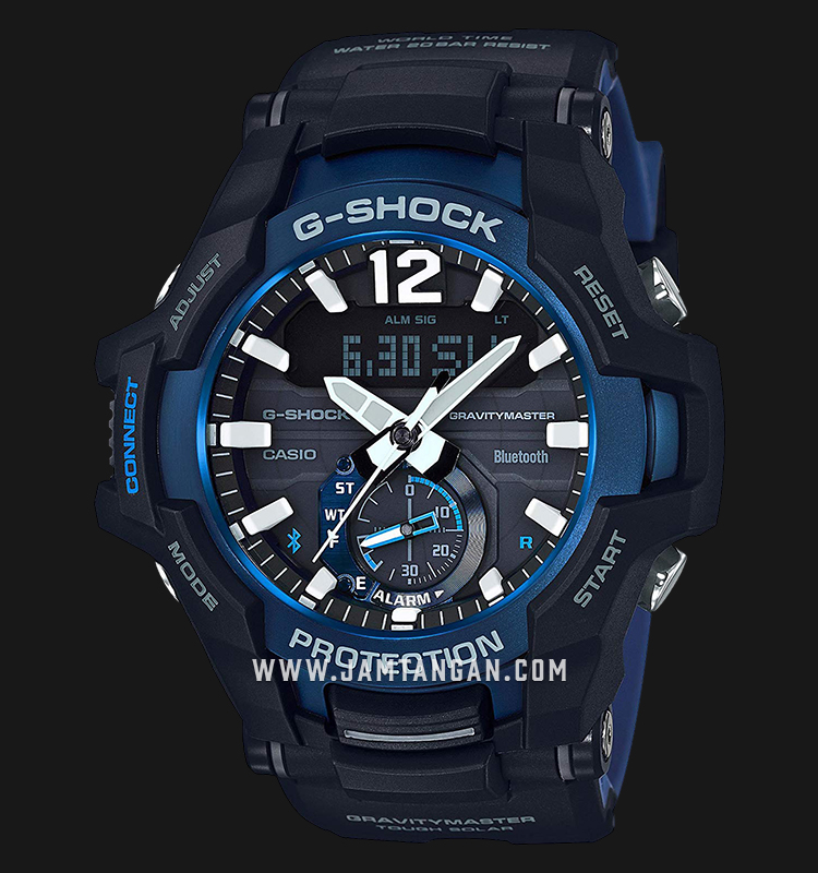 Casio G-Shock Gravitymaster GR-B100-1A2DR Digital Analog Dial Dual Color Resin Strap Machtwatch