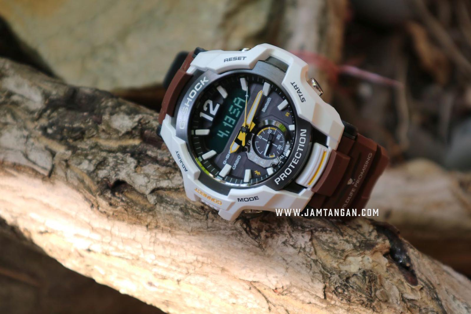 Casio G-Shock Gravitymaster GR-B100WLP-7AJR Digital Analog Dial Brown Resin Strap Machtwatch