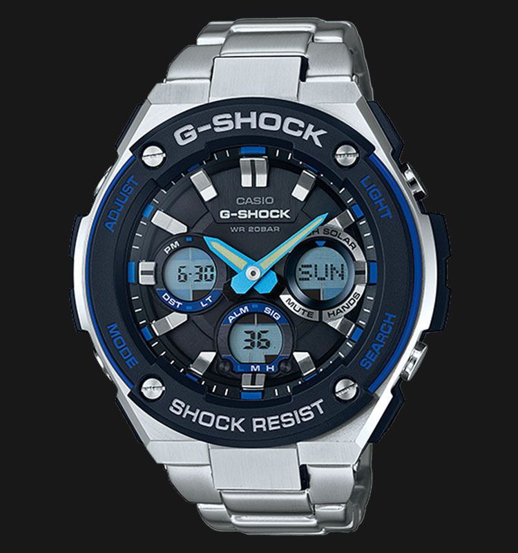 Casio G-Shock GST-S100D-1A2DR Tough Solar Stainless Steel Band 200M Machtwatch