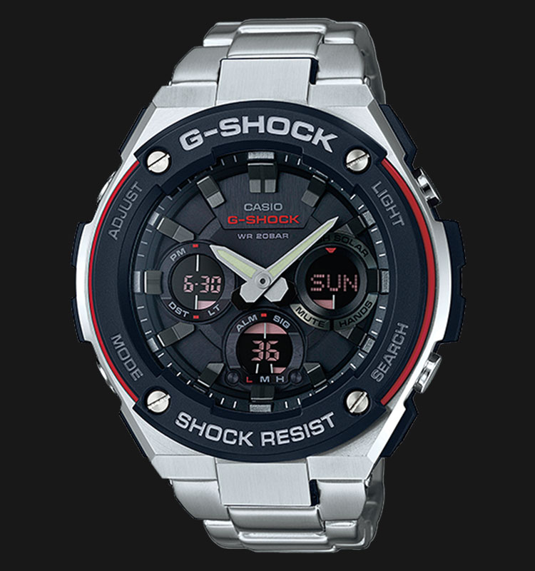 Casio G-Shock GST-S100D-1A4DR Tough Solar Stainless Steel Band 200M Machtwatch
