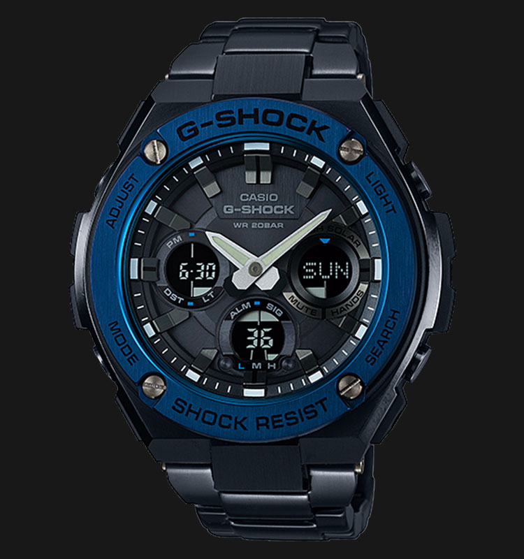 Casio G-Shock GST-S110BD-1A2DR Tough Solar Stainless Steel Band 200M Machtwatch