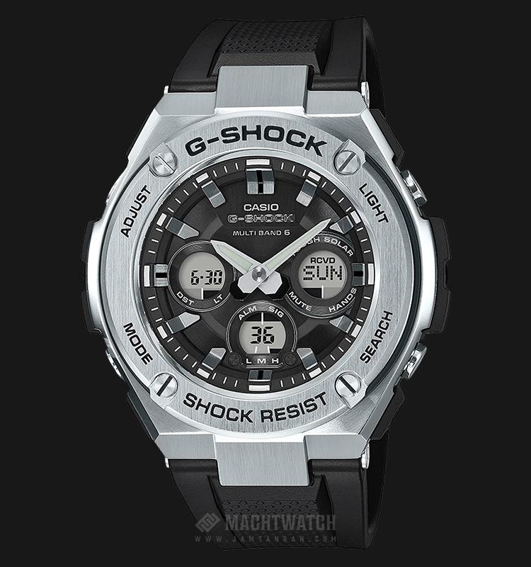 Casio G-Shock G-Steel Multiband 6 GST-W310-1AJF Men Black Analog Dial Black Resin Strap Machtwatch