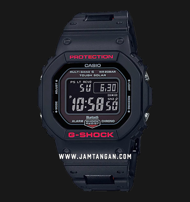 Casio G-Shock GW-B5600HR-1DR Men Digital Dial Black Resin Strap Machtwatch