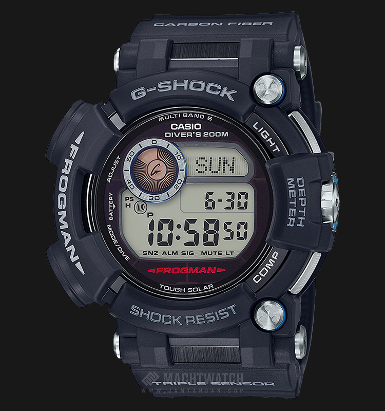 Casio G-Shock Frogman GWF-D1000-1DR with Water Depth Sensor Machtwatch