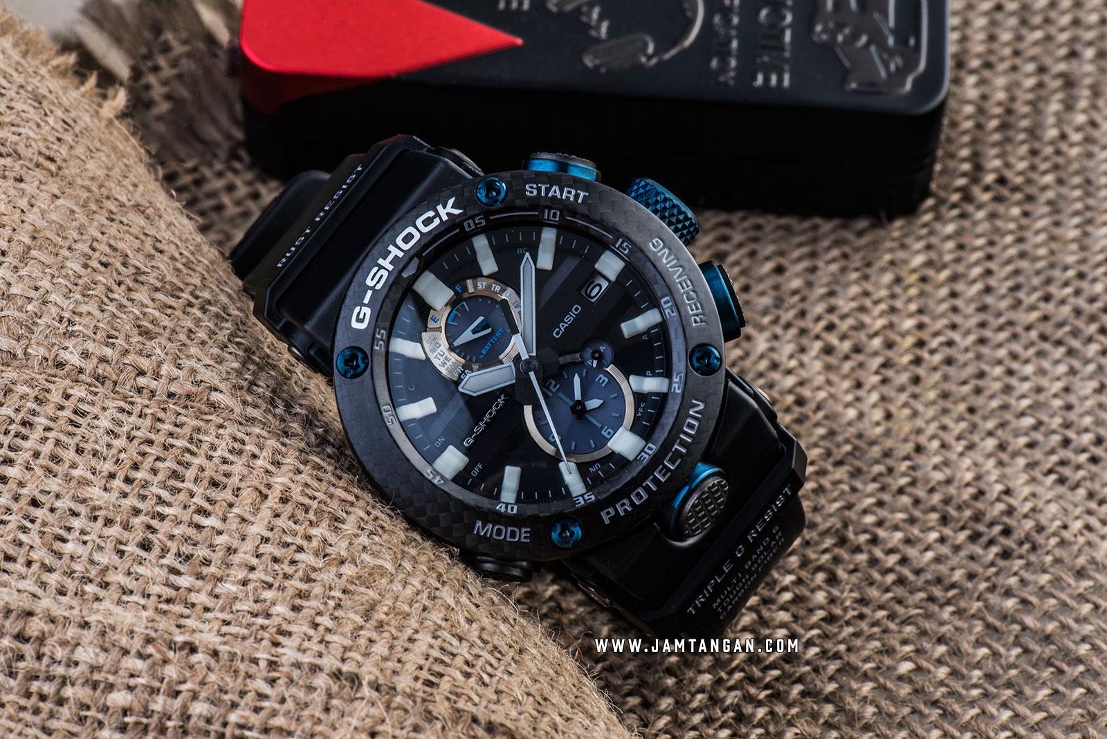 Casio G-Shock Gravitymaster GWR-B1000-1A1JF Black Analog Dial Black Resin Strap Machtwatch