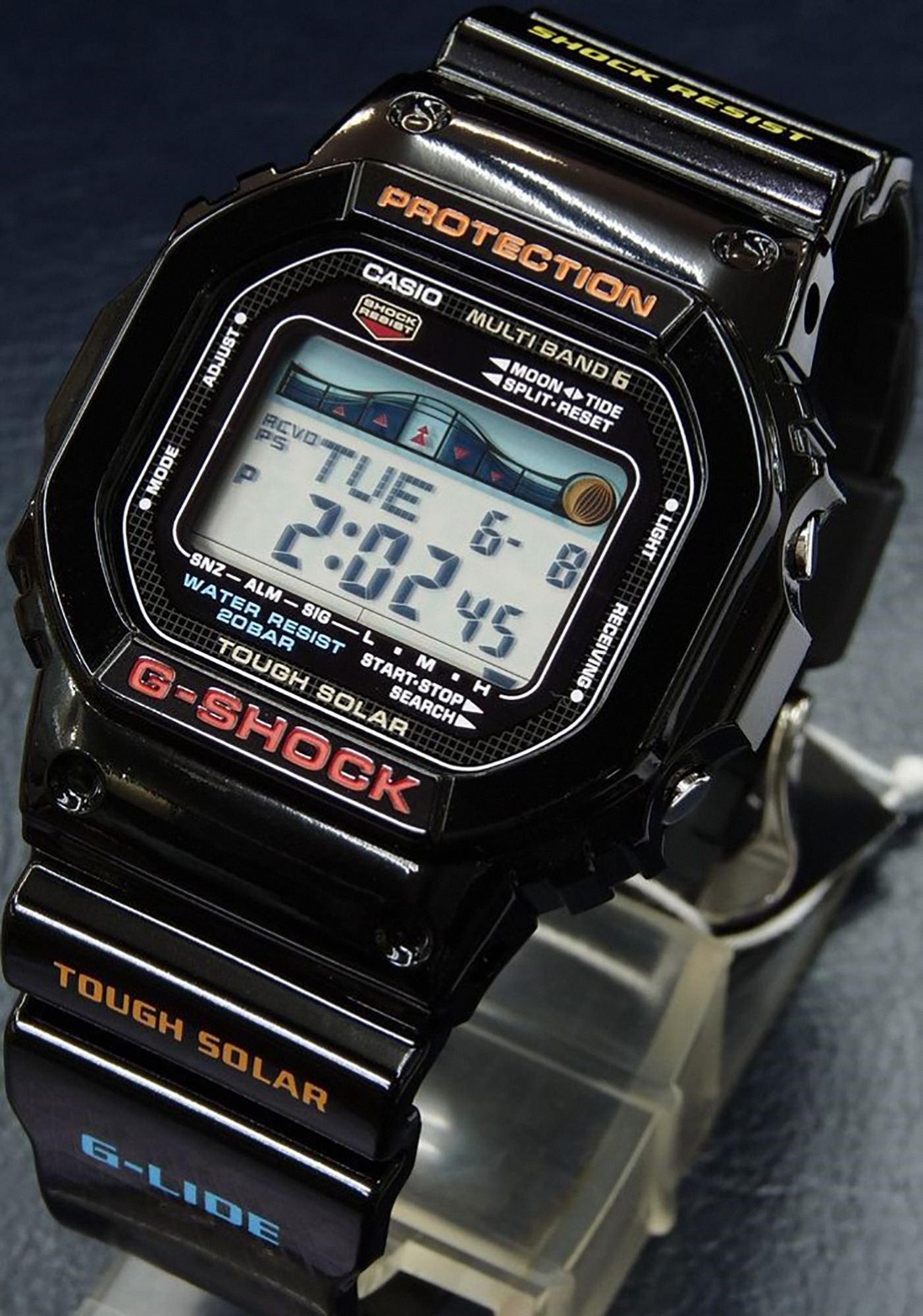 Casio G-Shock GWX-5600-1JF Multiband 6 Tough Solar Digital Grey Black Resin Machtwatch