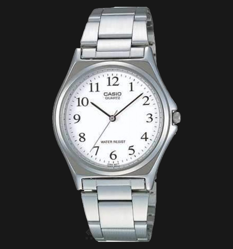 Casio LTP-1130A-7BRDF - Enticer Ladies - White Dial Silver Stainless Steel Machtwatch