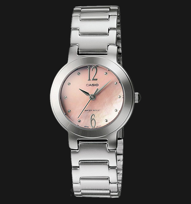 Casio LTP-1191A-4A2DF - Enticer Ladies - Beige Pearl Dial Stainless Steel Machtwatch