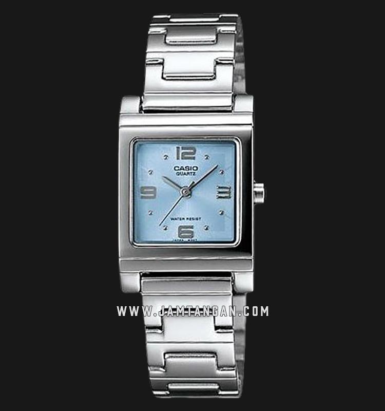 Casio LTP-1237D-2ADF Enticer Ladies Blue Dial Stainless Steel Strap Machtwatch