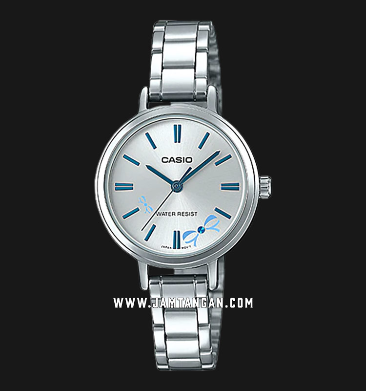 Casio LTP-E146D-2ADF Enticer Ladies Silver Dial Stainless Steel Strap Machtwatch