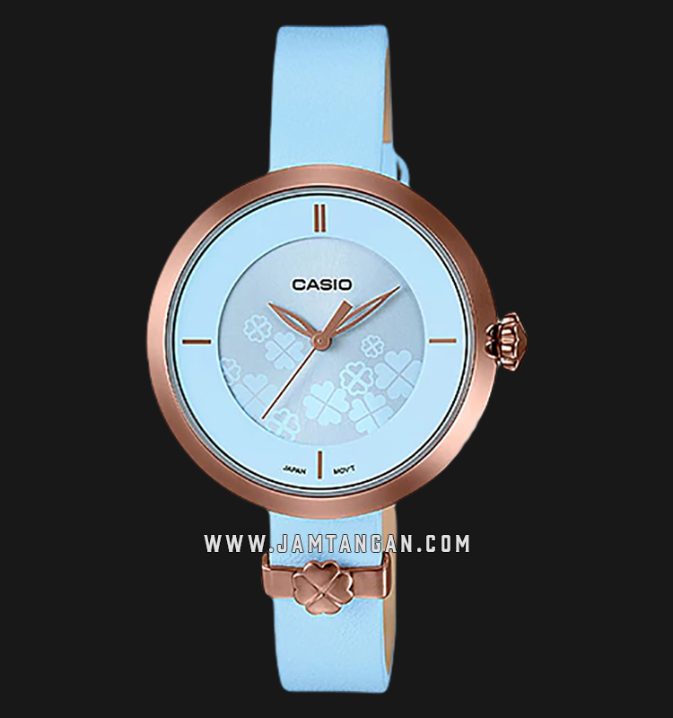 Casio LTP-E154RL-2ADF Enticer Ladies Blue Dial Blue Leather Strap Machtwatch