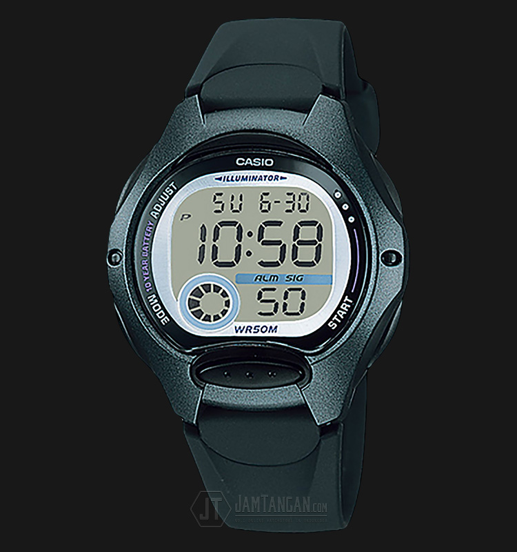 Casio LW-200-1BVDF - 10-Years Battery Life - Rubber Band Machtwatch