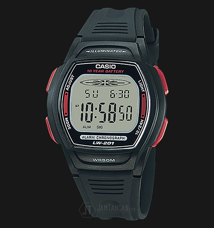 Casio LW-201-4AVDF - 10-Years Battery Life - Rubber Band Machtwatch