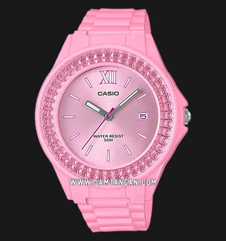 Casio LX-500H-4E2VDF Ladies Analog Pink Dial Pink Resin Strap Machtwatch