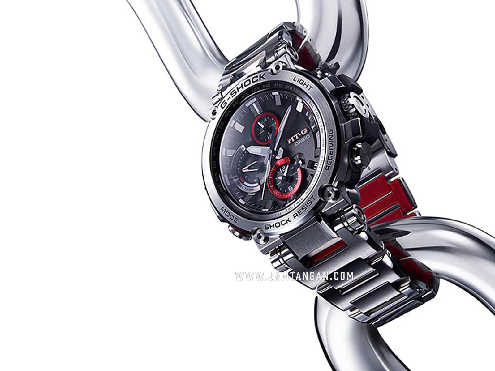 Casio G-Shock MTG-B1000D-1AJF MT-G Chronograph Black Dial Silver Composite Strap Machtwatch