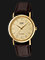 Casio Enticer MTP-1095Q-9A Gold Dial Brown Leather Strap Thumbnail