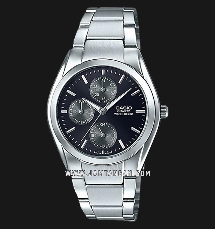 Casio MTP-1405D-1AVDF Enticer Men Black Dial Stainless Steel Strap Machtwatch