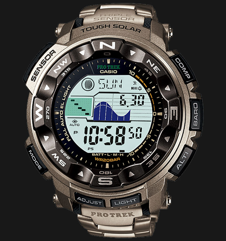 Casio Pro Trek PRG-250T-7DR Machtwatch