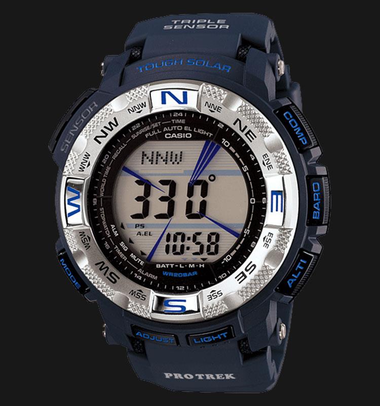 Casio Pro Trek PRG-260-2DR Digital Display Dial Blue Resin Strap Machtwatch