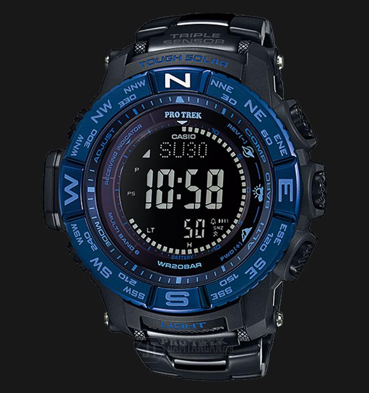 Casio Pro Trek PRW-3500SYT-1DR Tough Solar Titanium Band Wave Ceptor 200M WR Machtwatch