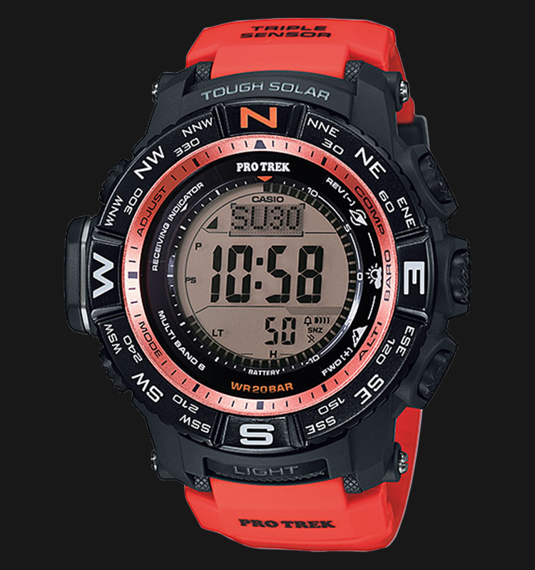 Casio Pro Trek PRW-3500Y-4DR Tough Solar Triple Sensor Wave Ceptor Machtwatch