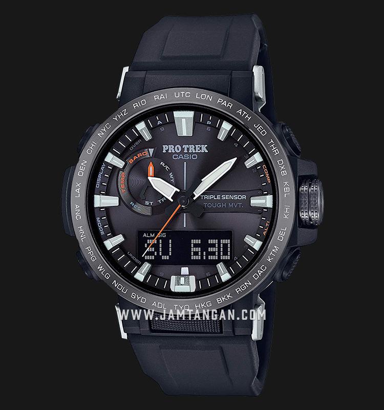 Casio Pro Trek Climber Line PRW-60Y-1ADR Digital Analog Dial Black Resin Strap Machtwatch