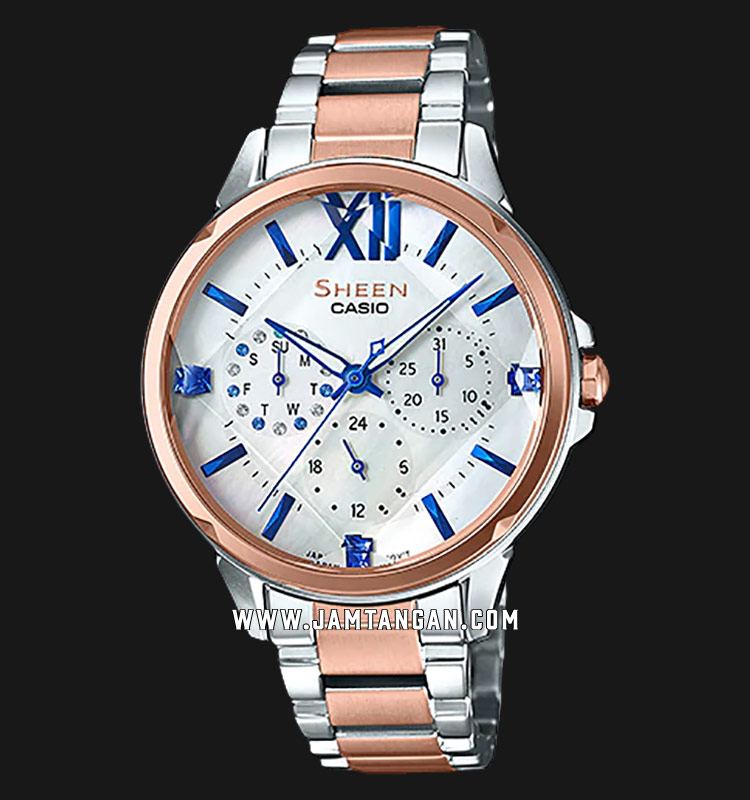 Casio Sheen SHE-3056SPG-7AUDF Silver Dial Stainless Steel Strap Machtwatch