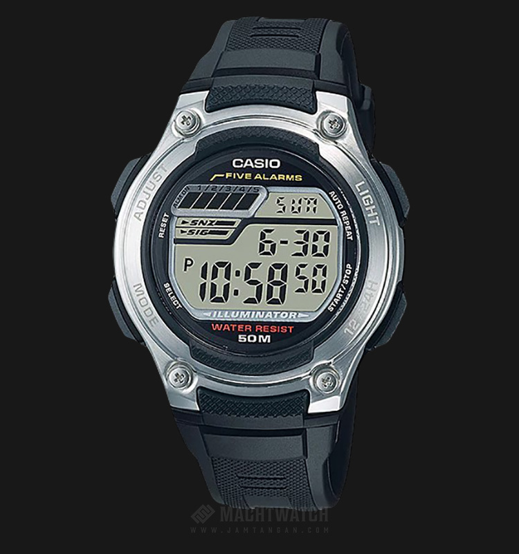 Casio Standard W-212H-1AVDF - Digital - Resin Band Machtwatch