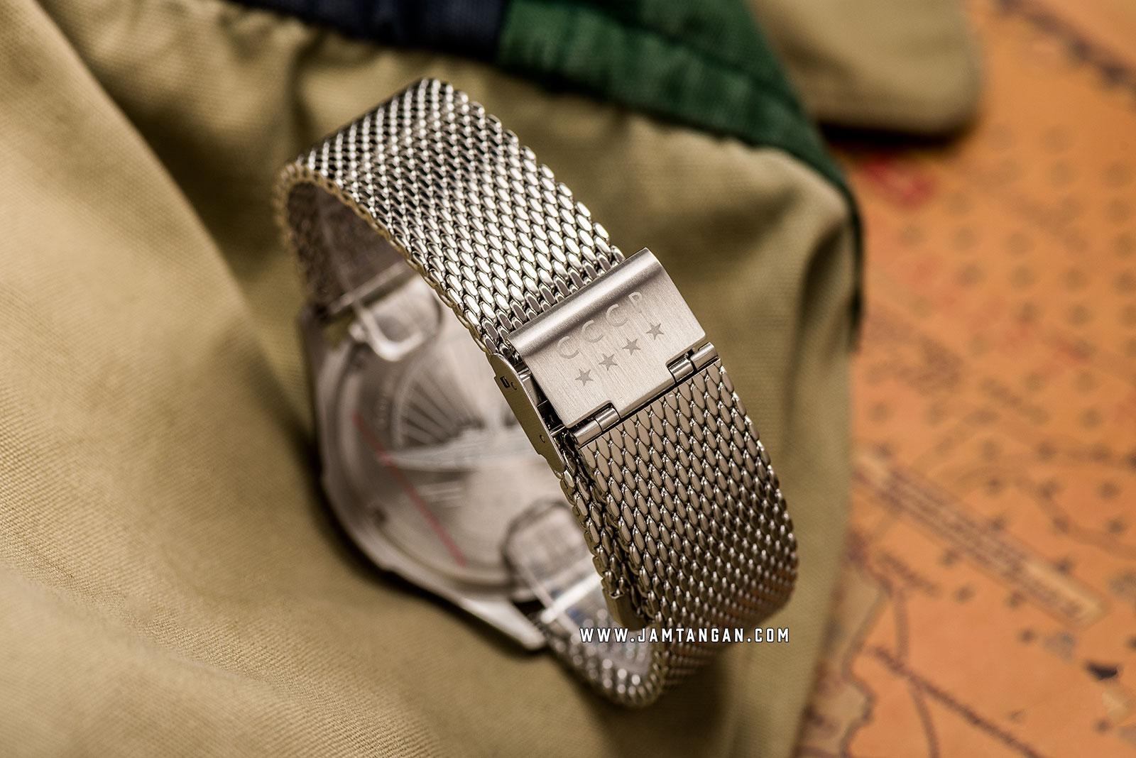 CCCP Shchuka CP-7033-22 Chronograph Men Dark Green Dial Mesh Strap Machtwatch