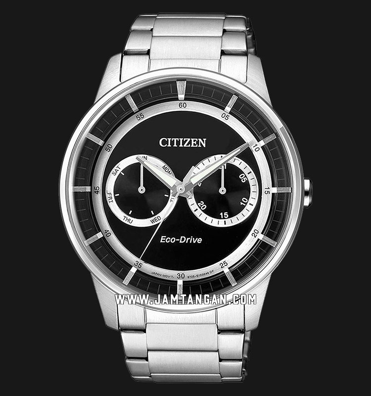 Citizen BU4000-50E Eco-Drive Men Black Dial Stainless Steel Strap Machtwatch