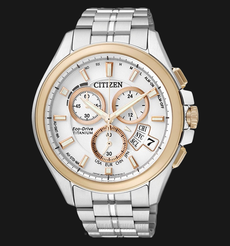 Citizen BY0054-57A Eco Drive Radio Duratect Titanium Machtwatch
