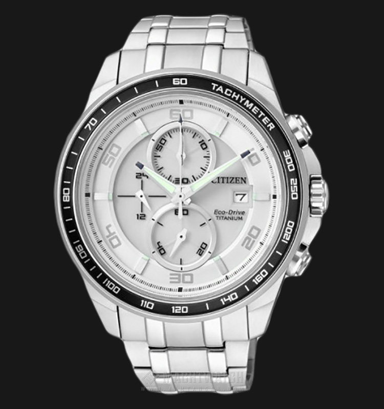 Citizen CA0341-52A Eco Drive Chronograph Super Titanium Machtwatch