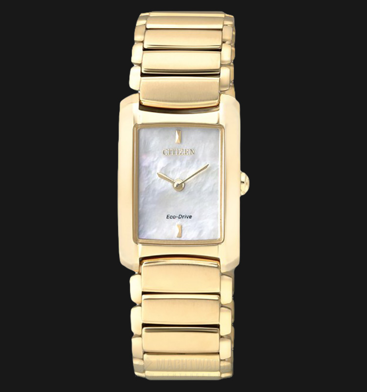 Citizen EG2973-55D Women Eco-Drive Mother of Pearl Dial Gold-tone Stainless Steel Machtwatch