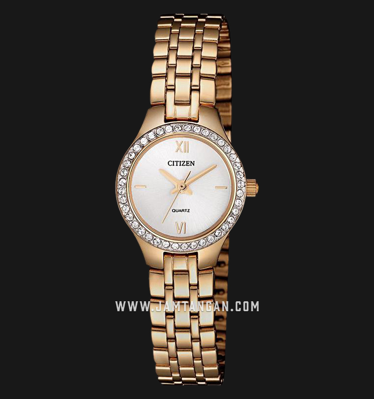 Citizen EJ6143-59A Ladies Mother of Pearl Dial Rose Gold Stainless Steel Strap Machtwatch