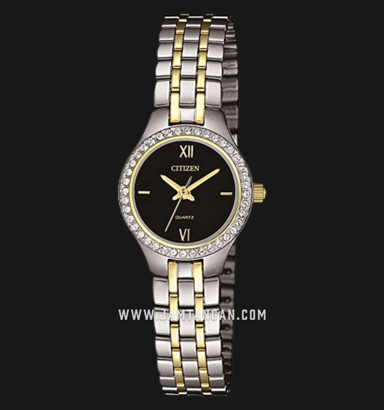 Citizen EJ6144-56E Ladies Black Dial Dual Tone Stainless Steel Strap Machtwatch