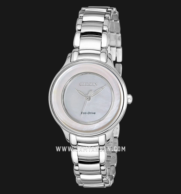 Citizen EM0380-57D Eco-Drive Mother of Pearl Dial Stainless Steel Strap Machtwatch
