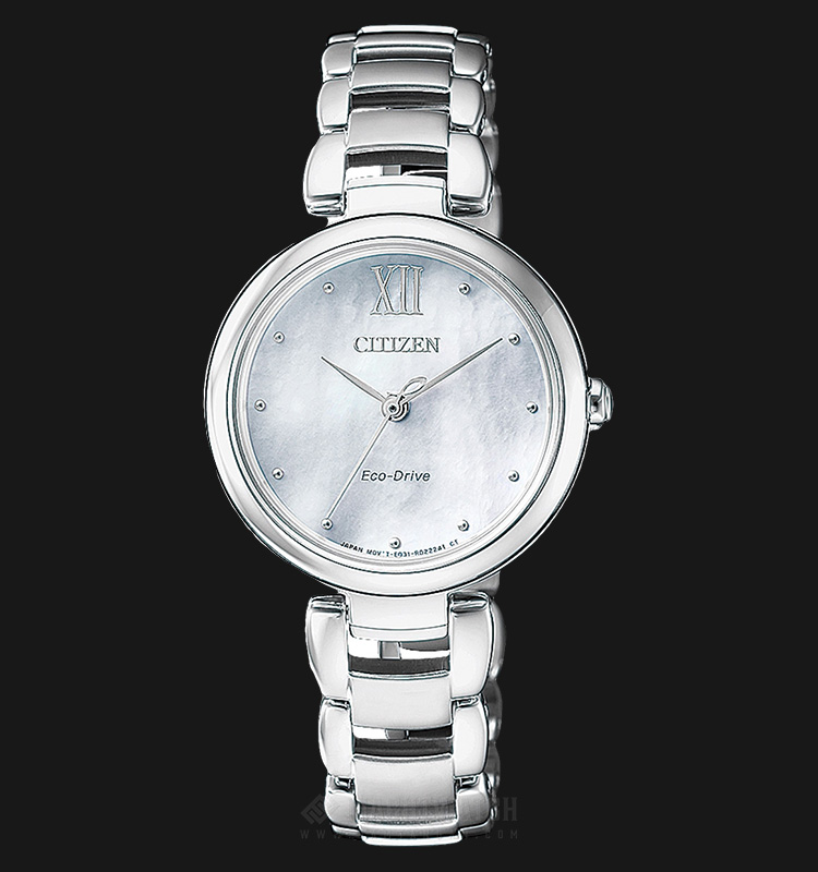 Citizen EM0530-81D Eco-Drive Ladies White Dial Stainless Steel Strap Machtwatch