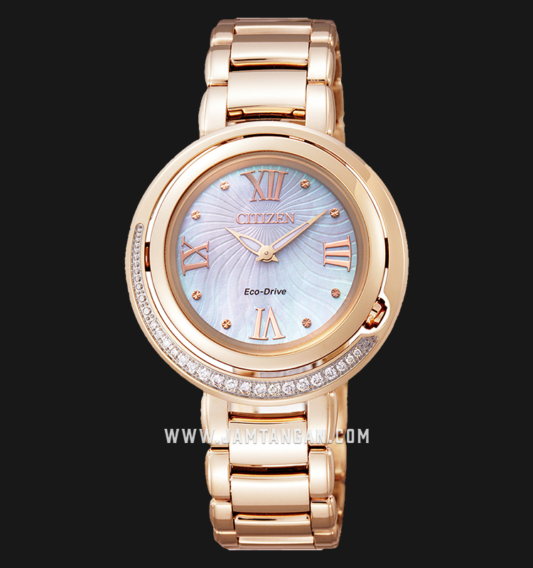 Citizen EX1122-58D Eco-Drive Mother of Pearl Dial Rose Gold Stainless Steel Strap Machtwatch