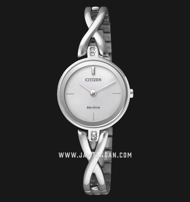 Citizen EX1420-84A Eco-Drive White Dial Stainless Steel Strap Machtwatch
