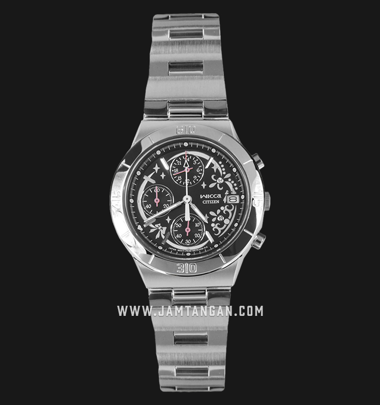 Citizen Wicca FA1006-68E Chronograph Black Dial Stainless Steel Strap Machtwatch