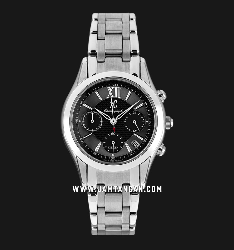Citizen FA3000-55H Chronograph Black Dial Stainless Steel Strap Machtwatch
