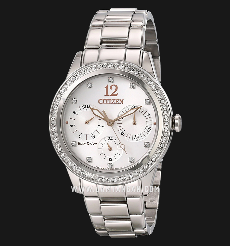 Citizen FD2010-58A Eco-Drive Silver Dial Stainless Steel Strap Machtwatch