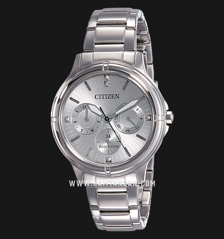 Citizen FD2030-51H Eco-Drive Silver Dial Stainless Steel Strap Machtwatch