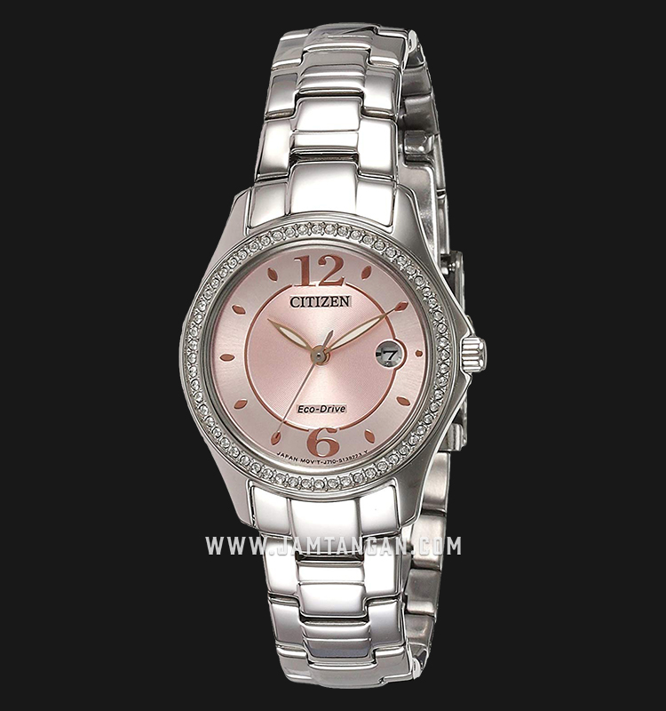Citizen FE1140-51X Eco-Drive Pink Dial Stainless Steel Strap Machtwatch