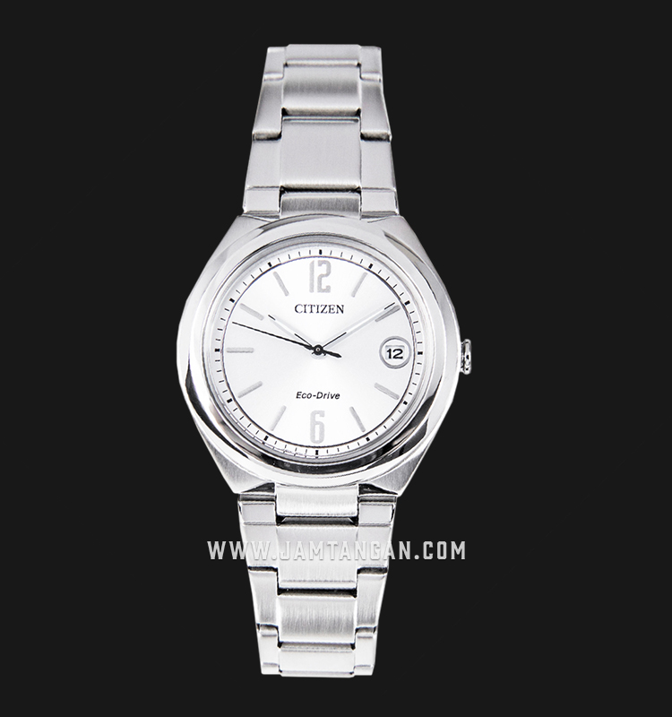 Citizen FE6020-56A Eco-Drive Silver Dial Stainless Steel Strap Machtwatch