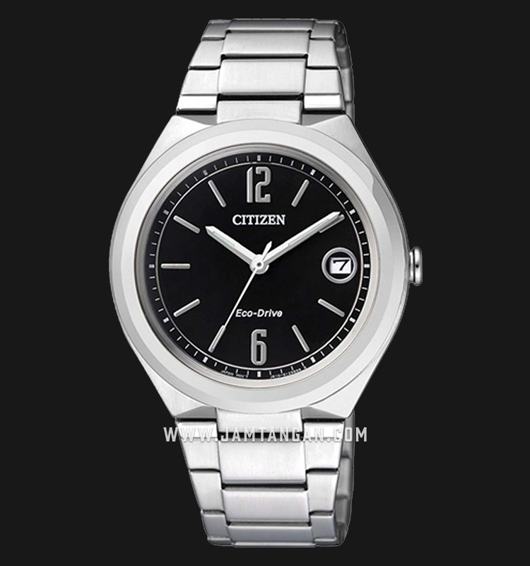 Citizen FE6020-56E Eco-Drive Black Dial Stainless Steel Strap Machtwatch