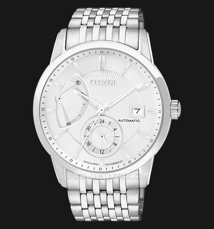 Citizen NB3000-56A Automatic White Dial Stainless Steel Strap Machtwatch