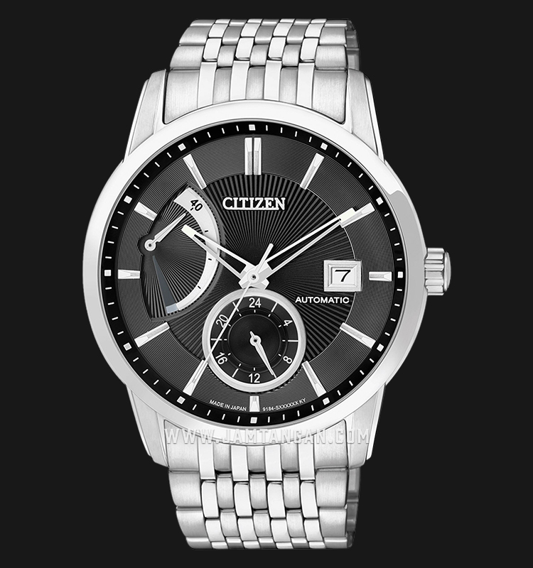 Citizen NB3000-56E Automatic Black Dial Stainless Steel Strap Machtwatch