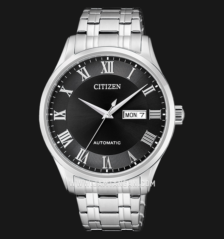 Citizen NH8360-80E Automatic Black Dial Stainless Steel Strap Machtwatch